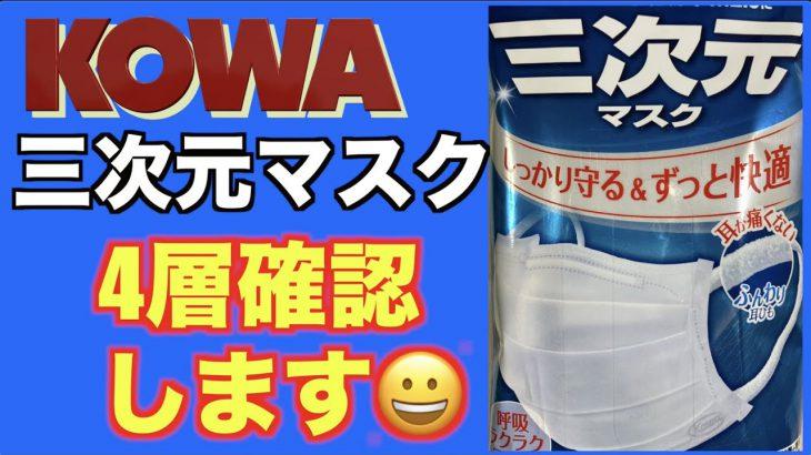 Kowa三次元マスクいよいよ開封〜分解チェック!やはり4層!